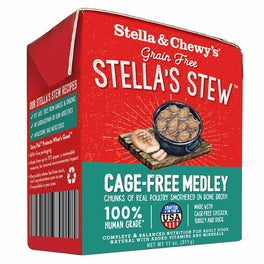 3 FOR $18.80: Stella & Chewy's Stella's Stew Cage-Free Medley Chicken, Turkey & Duck Recipe Dog Food 11oz