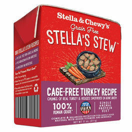 Stella & Chewy's Stella's Stew Cage-Free Turkey Recipe Dog Food 11oz