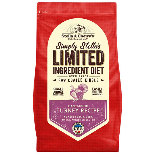 '15% OFF': Stella & Chewy's Limited Ingredient Diet Turkey Raw Coated Grain-Free Dry Dog Food - Kohepets