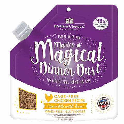 Stella & Chewy's Marie's Magical Dinner Dust Chicken Freeze-Dried Cat Food Topper 7oz - Kohepets