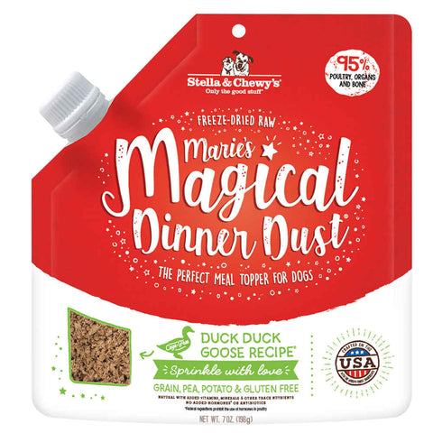 Stella & Chewy's Marie's Magical Dinner Dust Duck Freeze-Dried Dog Food Topper 7oz - Kohepets