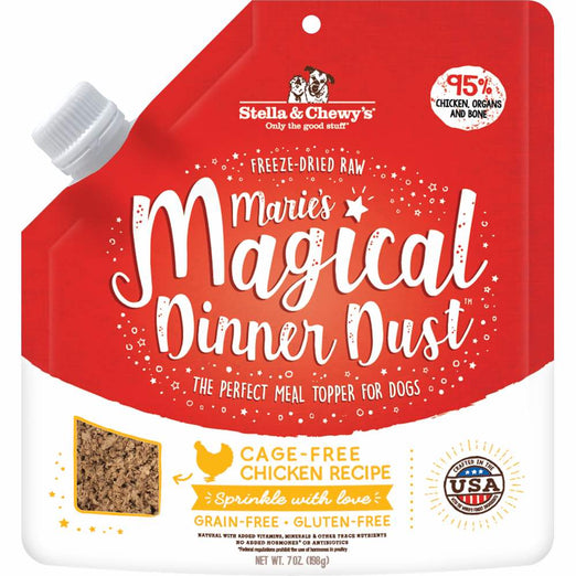 Stella & Chewy's Marie's Magical Dinner Dust Chicken Freeze-Dried Dog Food Topper 7oz - Kohepets