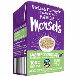 4 FOR $19.50: Stella & Chewy's Marvelous Morsels Cage-Free Chicken Wet Cat Food 5.5oz