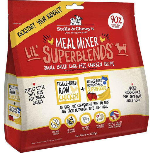 Stella & Chewy's Meal Mixer Lil' Superblends Small Breed Chicken Freeze-Dried Dog Food - Kohepets