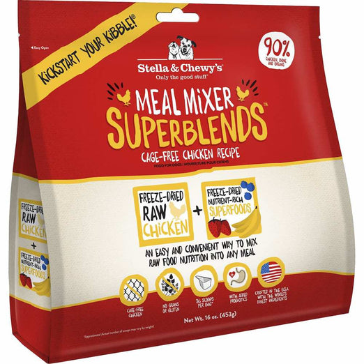 Stella & Chewy's Meal Mixer Superblends Chicken Freeze-Dried Dog Food 16oz - Kohepets