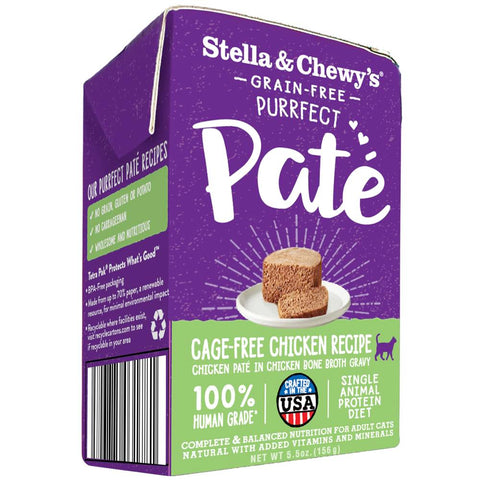 Stella & Chewy's Purrfect Pate Cage-Free Chicken Wet Cat Food 5.5oz - Kohepets