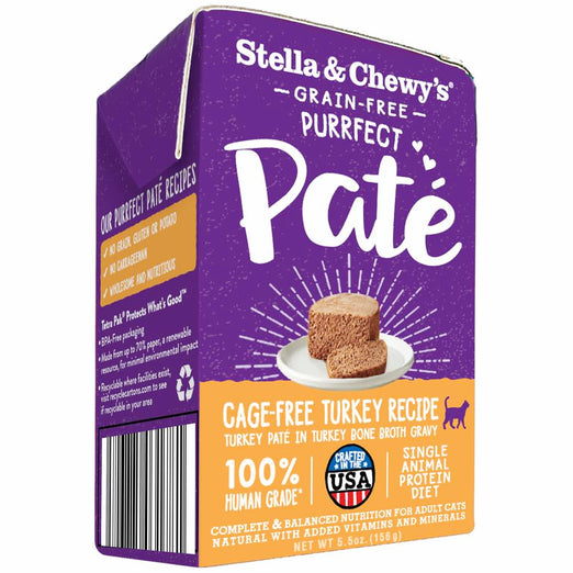 4 FOR $19.50: Stella & Chewy's Purrfect Pate Cage-Free Turkey Wet Cat Food 5.5oz