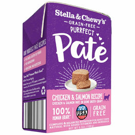 4 FOR $19.50: Stella & Chewy's Purrfect Pate Chicken & Salmon Medley Wet Cat Food 5.5oz