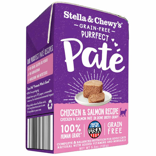 Stella & Chewy's Purrfect Pate Chicken & Salmon Medley Wet Cat Food 5.5oz