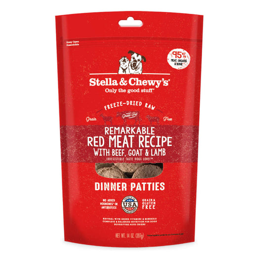 'BUNDLE DEAL': Stella & Chewy's Remarkable Red Meat Dinner Patties Grain-Free Freeze-Dried Raw Dog Food - Kohepets