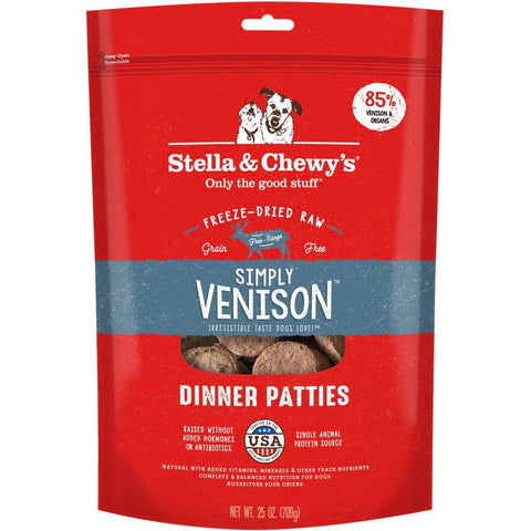 16% OFF ( Exp 8 Apr 21): Stella & Chewy's Simply Venison Dinner Patties Freeze-Dried Dog Food 25oz - Kohepets