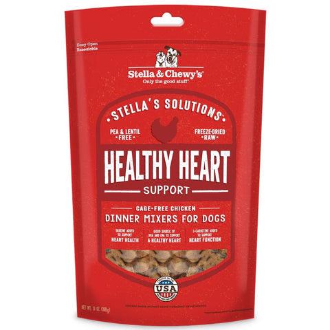 Stella & Chewy's Stella's Solutions Healthy Heart Chicken Freeze-Dried Dog Food 13oz - Kohepets