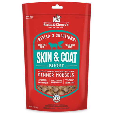 '3 FOR $147': Stella & Chewy's Stella's Solutions Skin & Coat Boost Lamb & Salmon Freeze-Dried Dog Food 13oz (Pre-Expo Sale)