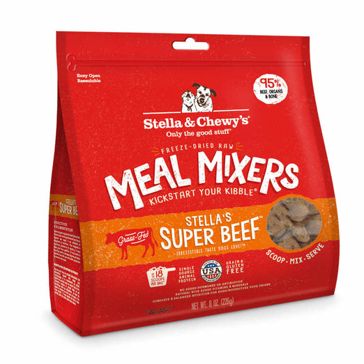 Stella & Chewy's Stella's Super Beef Meal Mixers Grain Free Freeze-Dried Raw Dog Food - Kohepets