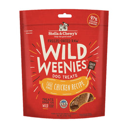 Stella & Chewy's Wild Weenies Chicken Recipe Grain Free Freeze Dried Dog Treats 3.25oz