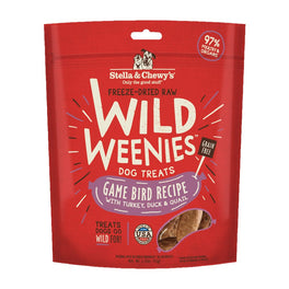5 FOR $50: Stella & Chewy's Wild Weenies Game Bird Recipe Grain Free Freeze Dried Dog Treats 3.25oz