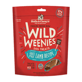 5 FOR $50: Stella & Chewy's Wild Weenies Lamb Recipe Grain Free Freeze Dried Dog Treats 3.25oz