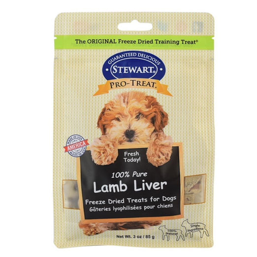 Stewart Pro-Treat Lamb Liver Freeze Dried Dog Treats 3oz (Pouch) - Kohepets