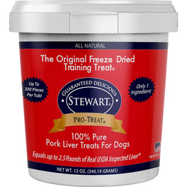 Stewart Pro-Treat Pork Liver Freeze Dried Dog Treats (Tub)