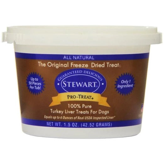 Stewart Pro-Treat Turkey Liver Freeze Dried Dog Treats (Tub) - Kohepets