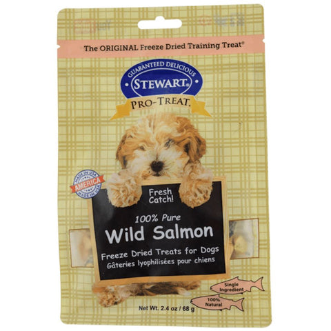 Stewart Pro-Treat Wild Salmon Freeze Dried Dog Treats (Pouch) 2.4oz - Kohepets