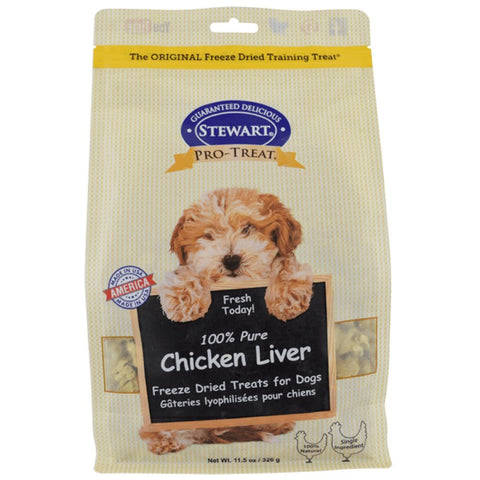 Stewart Pro-Treat Chicken Liver Freeze Dried Treats 3oz (Pouch) - Kohepets