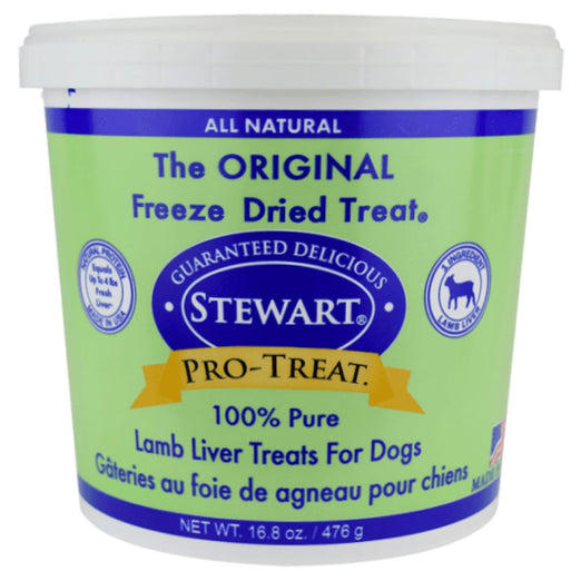 Stewart Pro-Treat Lamb Liver Freeze Dried Dog Treats 3oz (Tub) - Kohepets