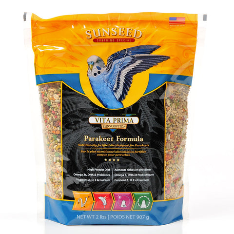 Sunseed Vita Prima Parakeet Formula Bird Food 2lb - Kohepets