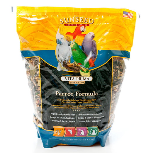 Sunseed Vita Prima Parrot Formula Bird Food 4lb - Kohepets