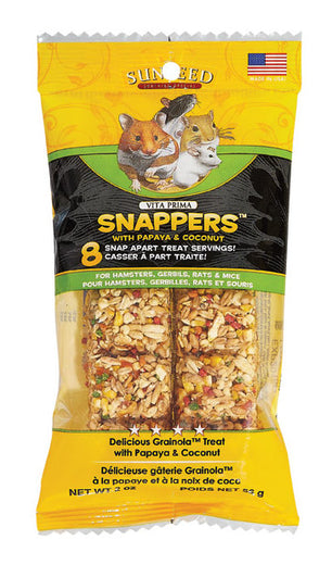 Sunseed Vita Prima Snappers With Papaya & Coconut For Small Animals 2oz - Kohepets