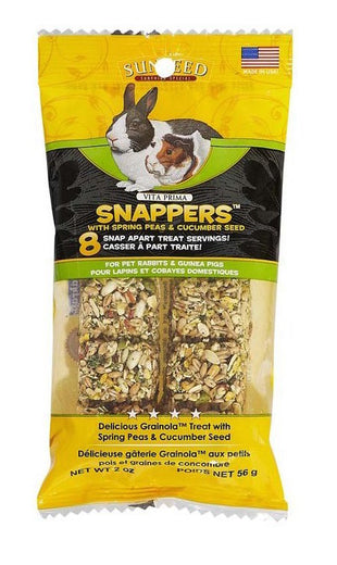 Sunseed Vita Prima Snappers With Spring Peas & Cucumber Seed For Small Animals 2oz - Kohepets
