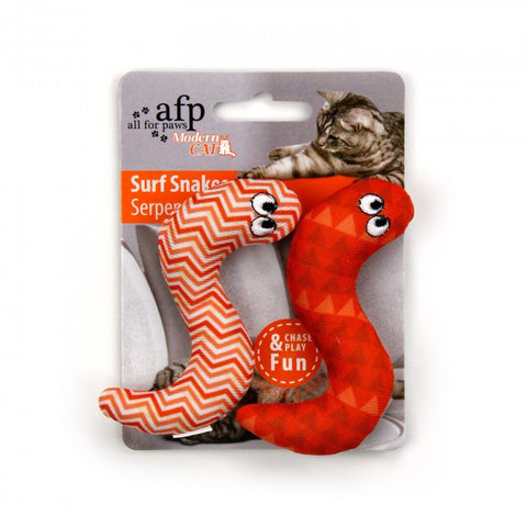 All For Paws Modern Cat Surf Snake 2pk Cat Toy