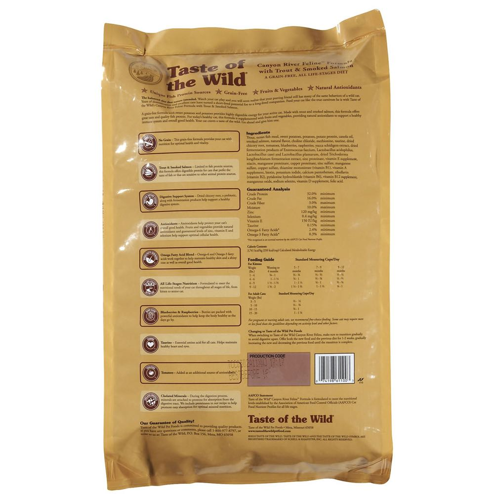 a26944939f5f 40% OFF  Taste of the Wild Canyon River Grain Free Dry Cat Food