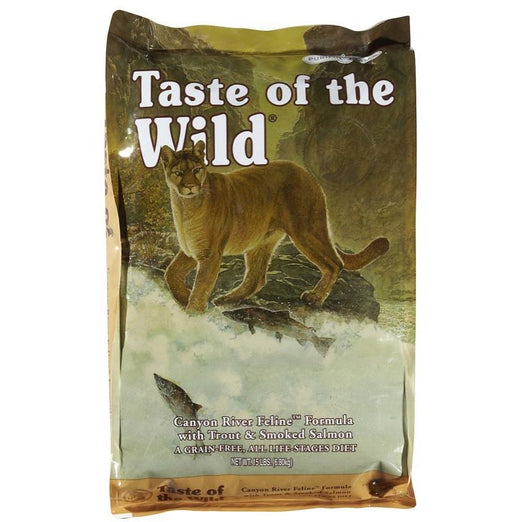 'FREE CANNED FOOD' + 40% OFF: Taste of the Wild Canyon River Grain Free Dry Cat Food