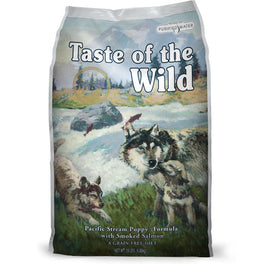 'FREE PATE': Taste of the Wild Pacific Stream Puppy with Smoked Salmon Grain Free Dry Dog Food