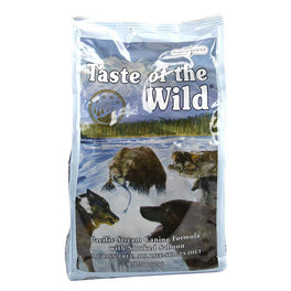 40% OFF + FREE CANNED FOOD: Taste of the Wild Pacific Stream with Smoked Salmon Grain Free Dry Dog Food