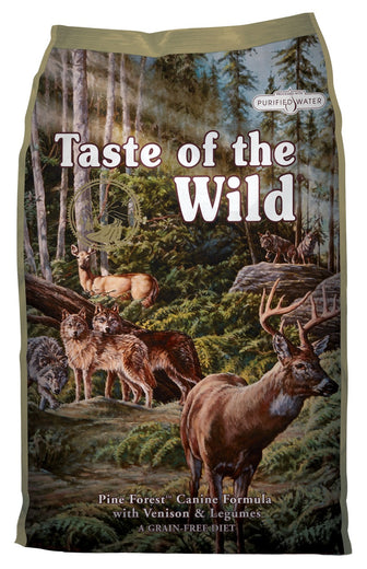 '50% OFF or FREE TREATS': Taste of the Wild Pine Forest with Venison Grain-Free Dry Dog Food - Kohepets