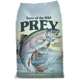 'FREE TREATS' + 50% OFF: Taste Of The Wild Prey Trout Formula Grain-Free Dry Dog Food (Exp 31 Aug 19)