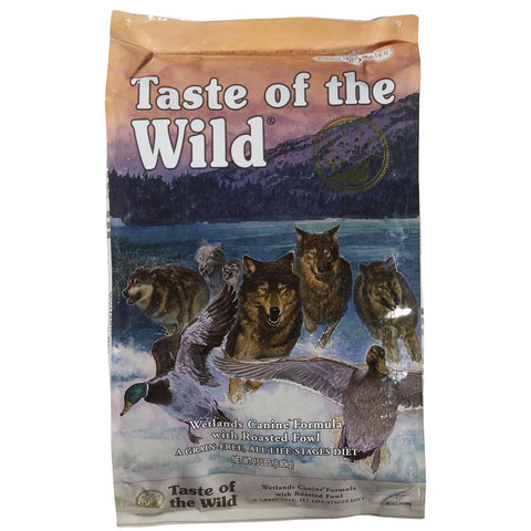 '50% OFF + FREE TREATS': Taste of the Wild Wetlands with Roasted Fowl Grain Free Dry Dog Food - Kohepets