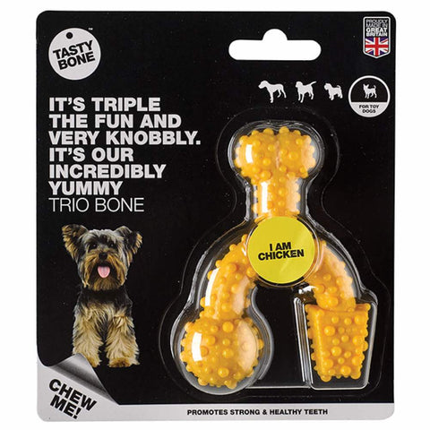 Tastybone Chicken Flavoured Trio Nylon Bone Dog Toy - Kohepets