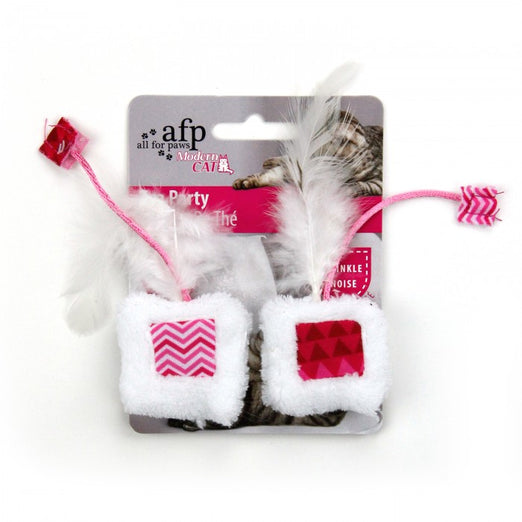 All For Paws Modern Cat Tea Party 2pk Cat Toy - Kohepets