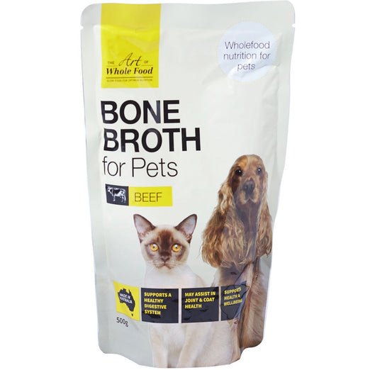 20% OFF: The Art of Whole Food Beef Bone Broth Topper for Cats & Dogs 500g - Kohepets