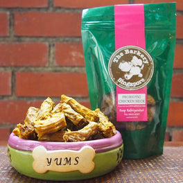 The Barkery Probiotic Chicken Neck Dehydrated Dog Treats