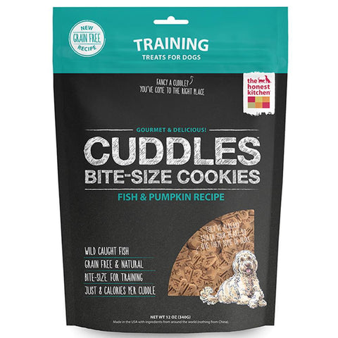 The Honest Kitchen Cuddles Bite-Size Cookies Fish & Pumpkin Grain-Free Dog Treats 340g - Kohepets
