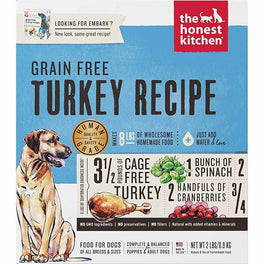 'FREE TREATS': The Honest Kitchen Embark Grain Free Turkey Recipe Dehydrated Dog Food
