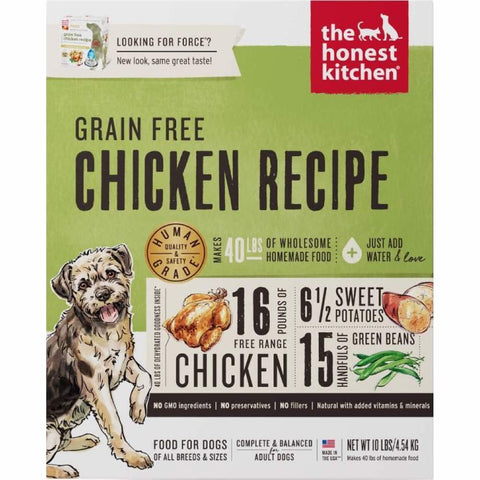The Honest Kitchen Force Grain Free Chicken Recipe Dehydrated Dog Food 10lb - Kohepets
