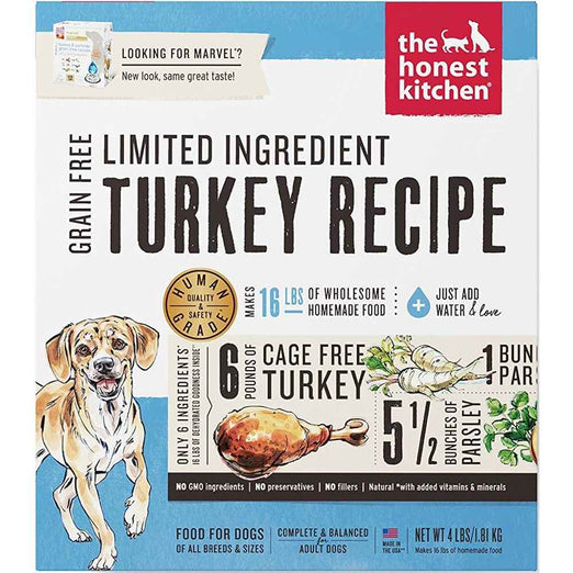 The Honest Kitchen Marvel Grain Free Limited Ingredient Turkey Recipe Dehydrated Dog Food 10lb - Kohepets