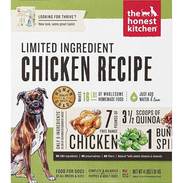 'FREE TREATS': The Honest Kitchen Thrive Limited Ingredient Chicken Dehydrated Dog Food