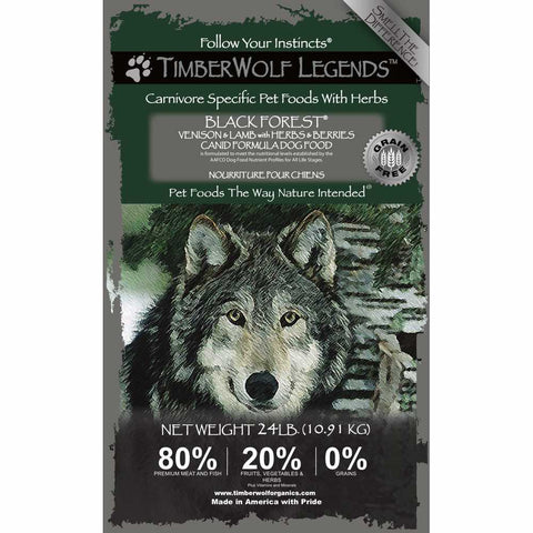 Timberwolf Legends Black Forest Venison & Lamb Grain Free Dry Dog Food - Kohepets