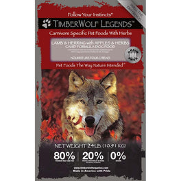 50% OFF: Timberwolf Legends Lamb & Herring Grain Free Dry Dog Food (Exp 23 Aug 2019)